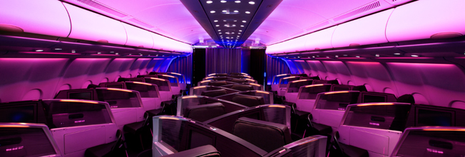 Virgin's latest Upper Class cabins are pretty swanky.