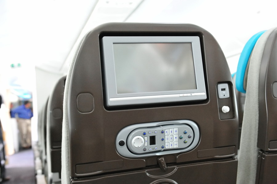 Your in-flight entertainment system is no place for porn. Photo courtesy of Shutterstock.