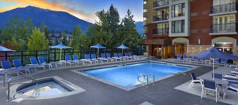 Whistler Hilton pool view featured