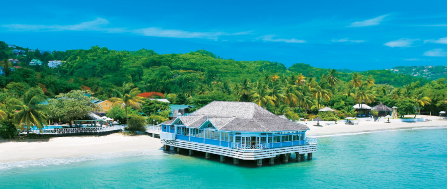 You can book luxurious resorts like Sandals Halcyon in St. Lucia on Orbitz and then get Orbucks if you find a lower price