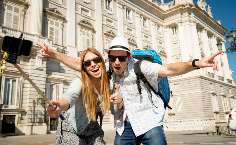 Yay...selfie sticks. Photo courtesy of Shutterstock.