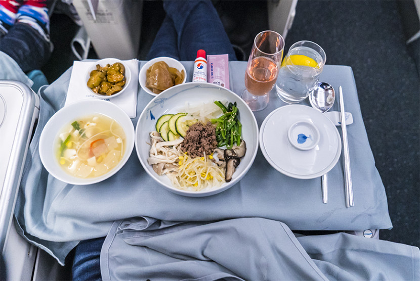 The airline's signature bibimbap.