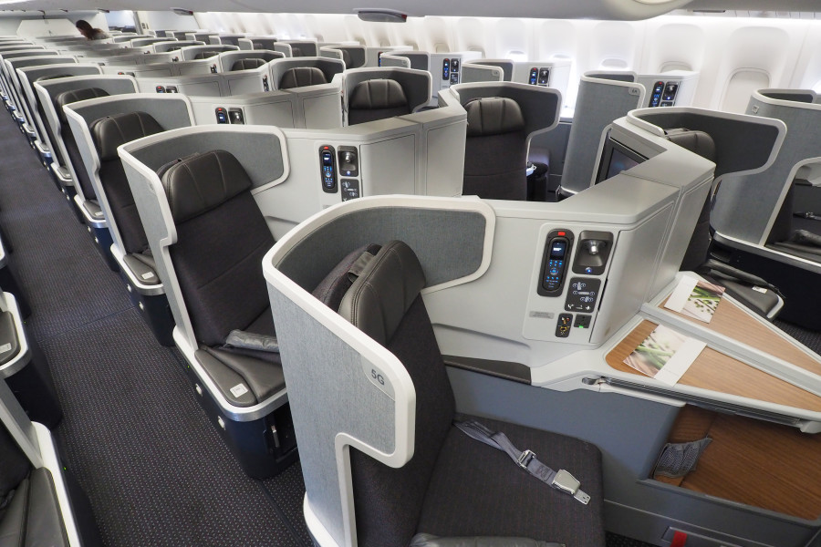 Business class on AA's 777-300ER.