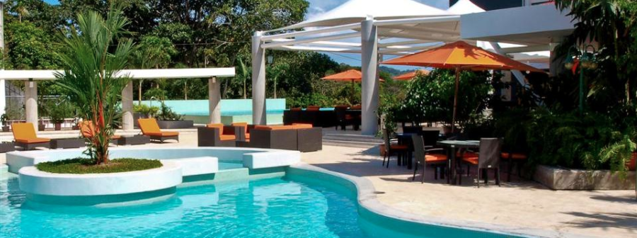 You'll be able to choose between two outdoor pools at the Radisson Summit Hotel in Panama