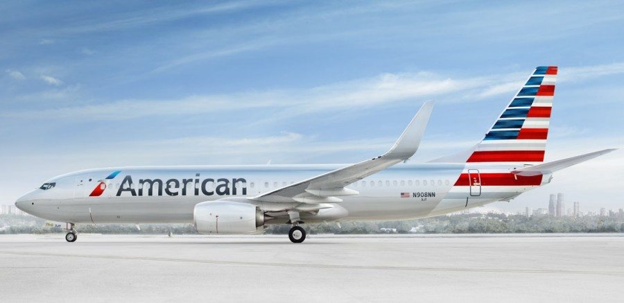 American Airlines plane on ground 2