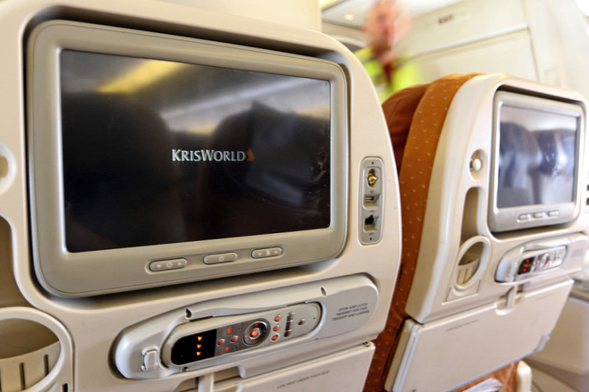 Singapore's KrisWorld on-demand IFE includes hundreds of movies and TV shows. Photo by T.C. Baker/Newscast Creative.