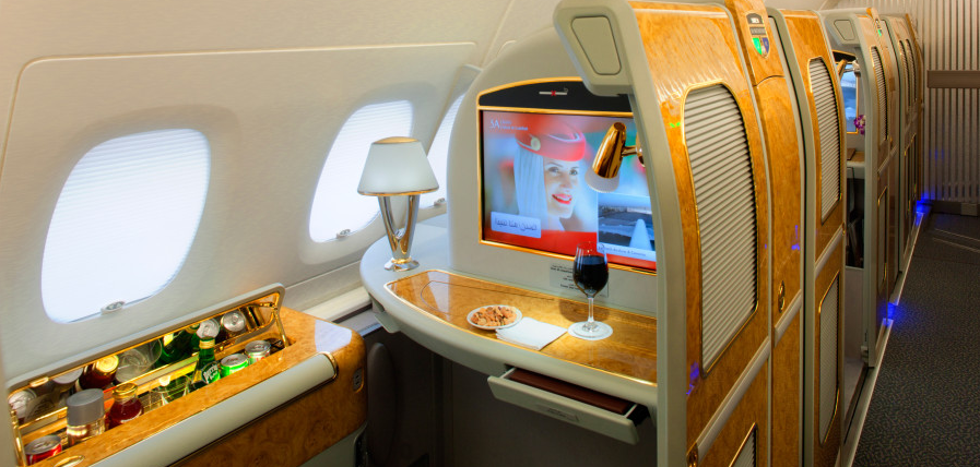 Emirates first class is one luxurious product listed on ExpertFlyer.