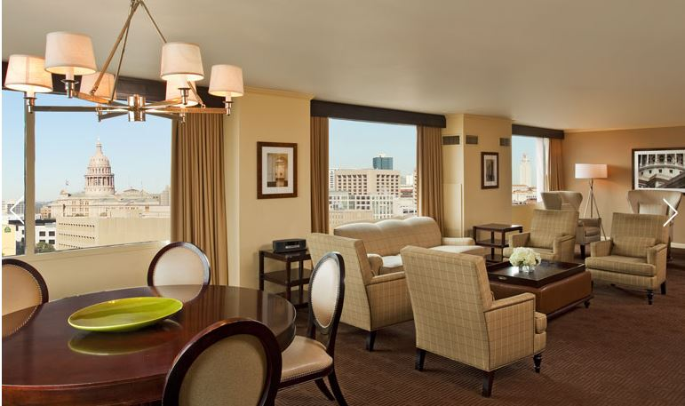 The Presidential Suite at the Sheraton Austin