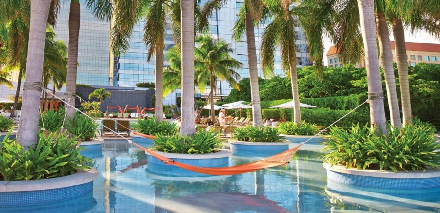 Four Seasons Miami pool hammock