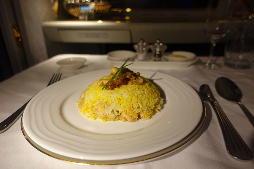 The chicken biryani is better than anything you'll find in the Emirates lounge.