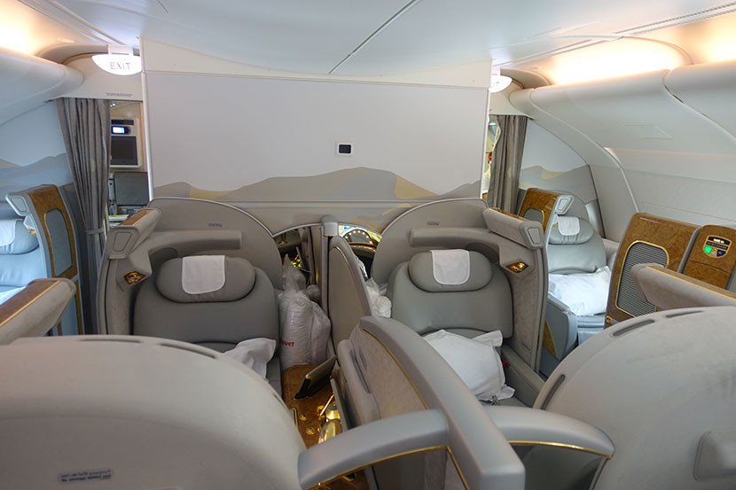 A look at the first-class cabin from my seat.