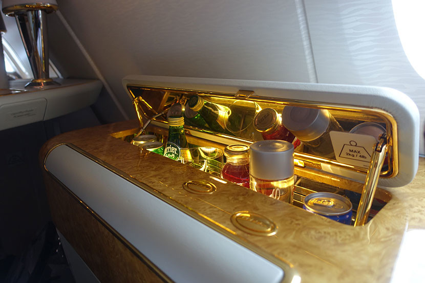 The mini bar was a dry bar, but there was plenty of Dom once we were airborne.