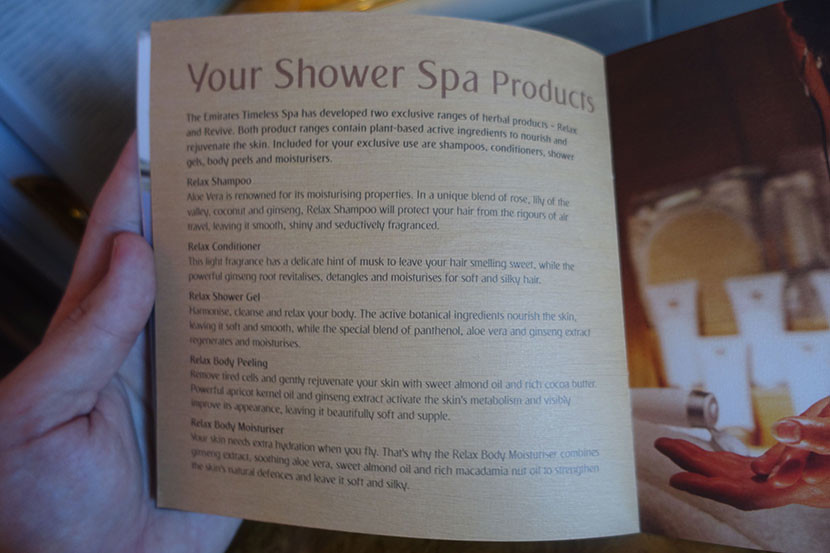 A guide to the first-class shower.