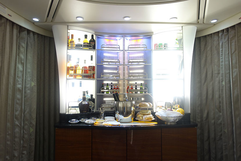 The snack bar area.