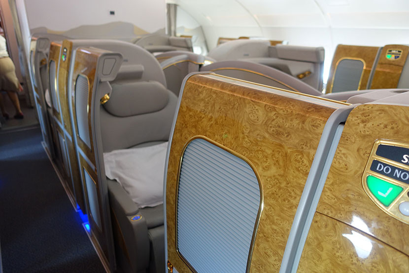 Thanks to the sliding doors, the first-class seats really do feel like suites —but relatively small ones!