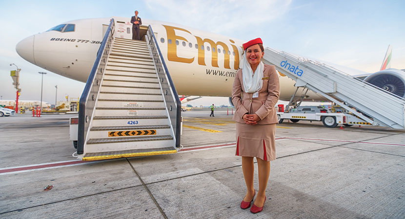 Fly Emirates to Southeast Asia.