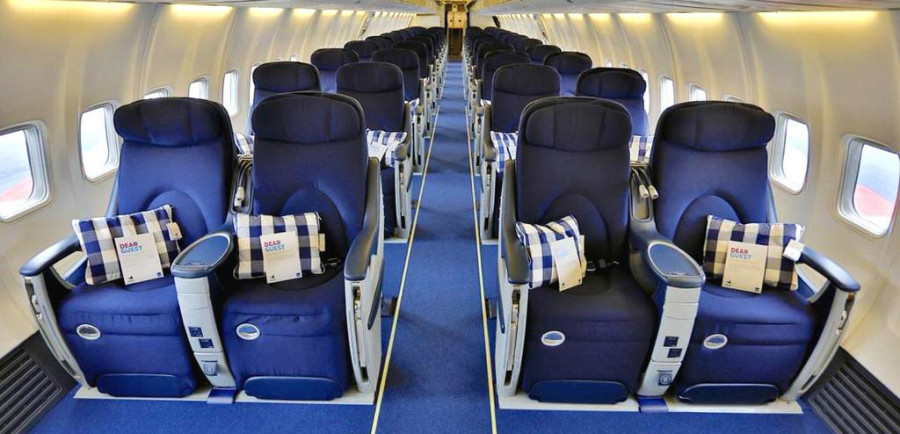 Inside the all-business 737.