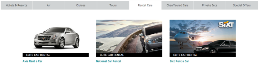 Any World Elite MasterCard comes with three different elite status memberships with car rental agencies.