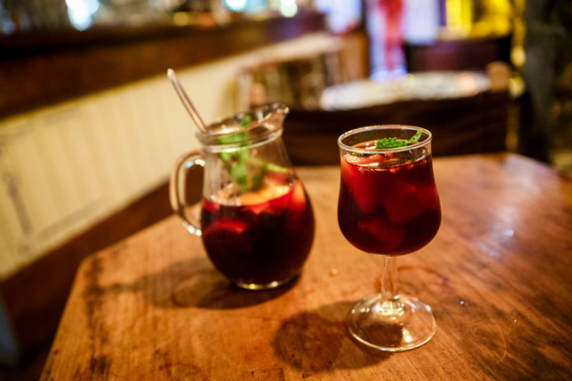 This pitcher of Sangria from Salterio, filled with fresh fruit and mint, wasrelaxing and delicious.