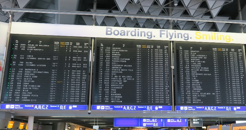 "There will soon be a lot less ""Boarding. Flying. Smiling."" in Frankfurt's airport!"