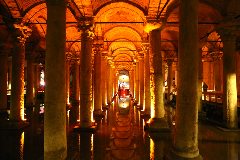The dim caverns of the Basilica Cistern held an emergency supply of water for the city of Constantinople