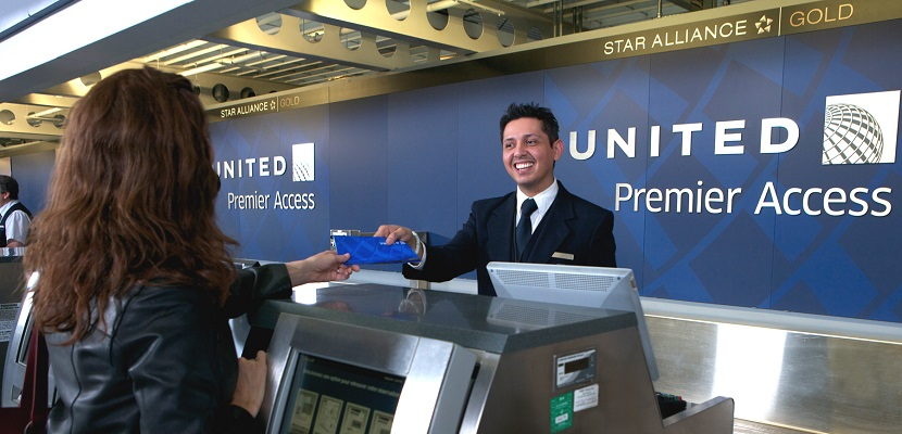 United check-in counter featured