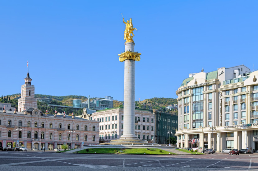 Freedom Square is dominated by the statue of St. George in the middle of the square. Photo courtesy of Shutterstock.