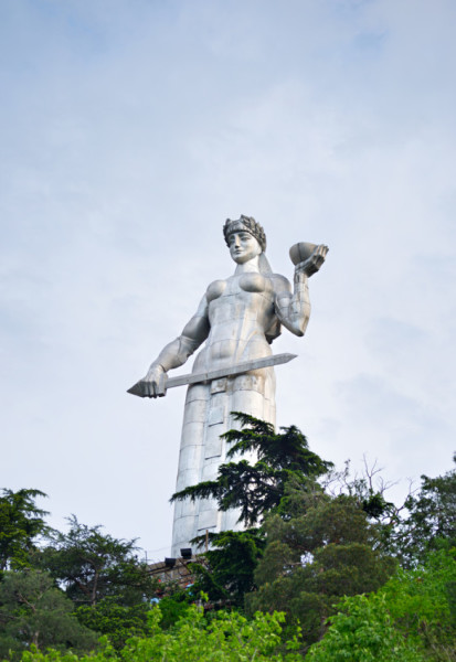 The Mother of Georgia (Kartvlis Deda) statue keeps a watchful eye over the city. Photo courtesy of Shutterstock.