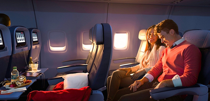 Seat assignment and upgrade fees (including premium economy) are eligible for statement credits on the Amex Platinum and Premier Rewards Gold cards.