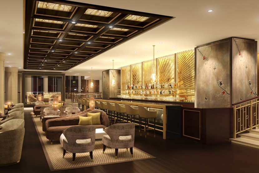 A rendering of the bar at the Waldorf Astoria Chengdu. Photo courtesy of Hilton.