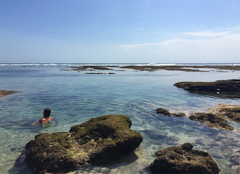 Tide pools at Uluwatu.