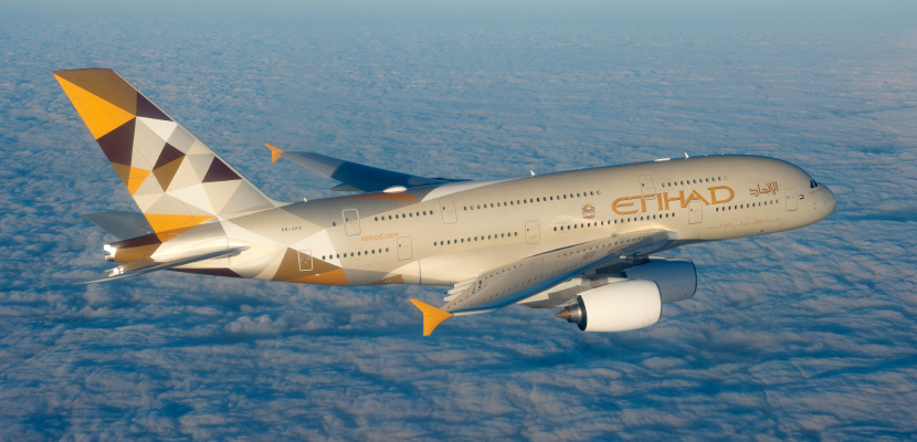Etihad's A380. Photo courtesy of Airbus.