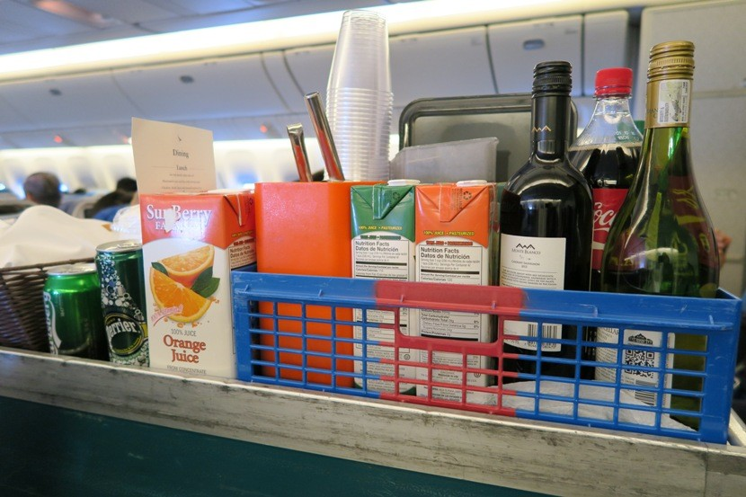 Plenty of drink options to choose from.