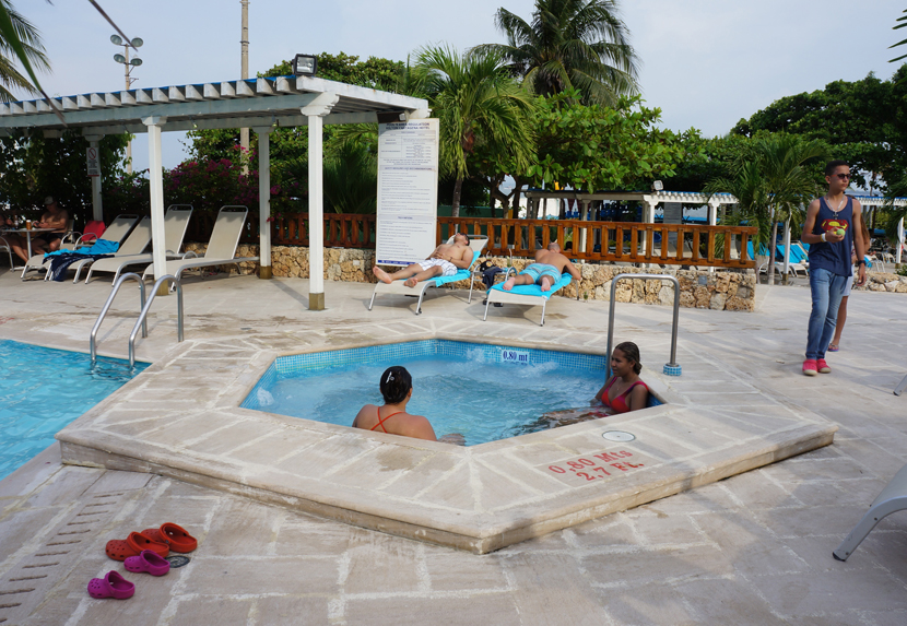 Hot tub in the hot tub at the Hilton Cartagena Hotel.