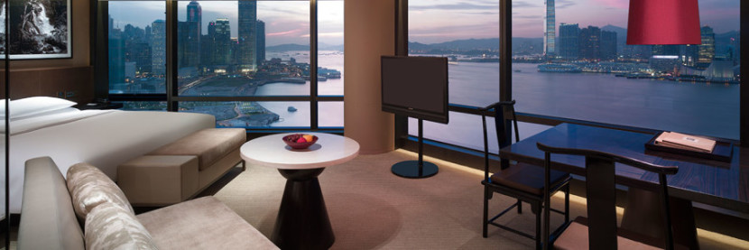 Tim and his son had an incredible view from their suite at the Grand Hyatt Hong Kong.