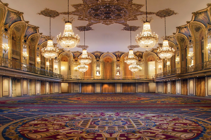 The grand ballroom at the Hilton Downtown Chicago.