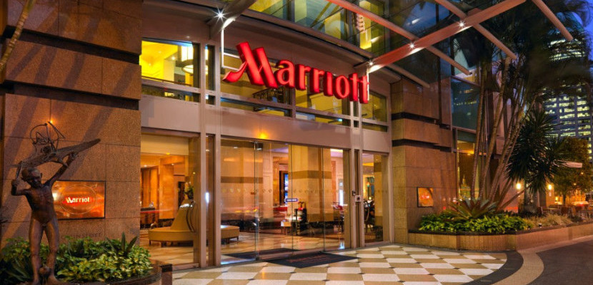 Marriott hotel front doors