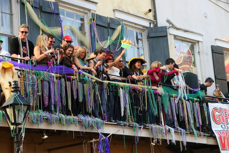 There is no Mardi Gras in New Orleans without beads. Photo courtesy of Shutterstock.