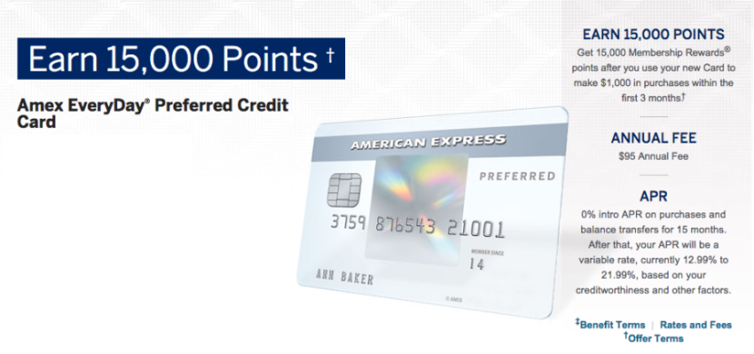 I'll use the Amex EveryDay Preferred for both supermarket purchases and non-bonus-category spending.