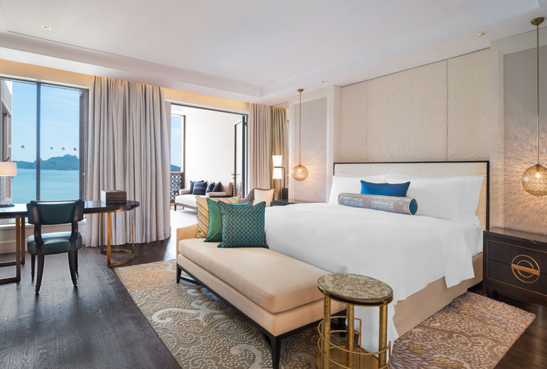 A guest room at the new St. Regis Langkawi. Photo courtesy of Starwood.