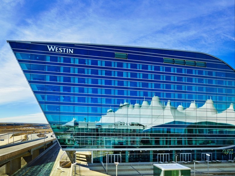 The new Westin Denver International is just steps from the iconic Jeppesen terminal.