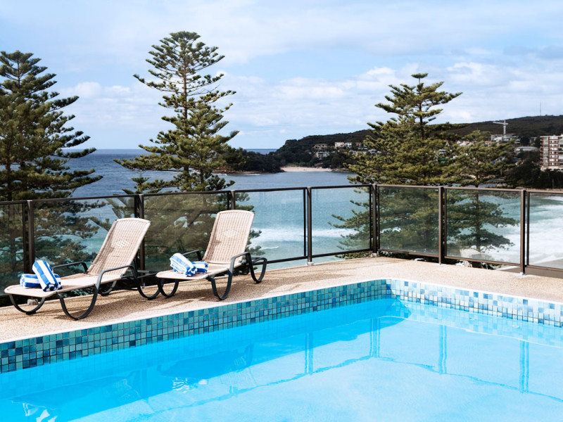 The pool at the Novotel Sydney Manly Pacific. Image courtesy of the hotel.