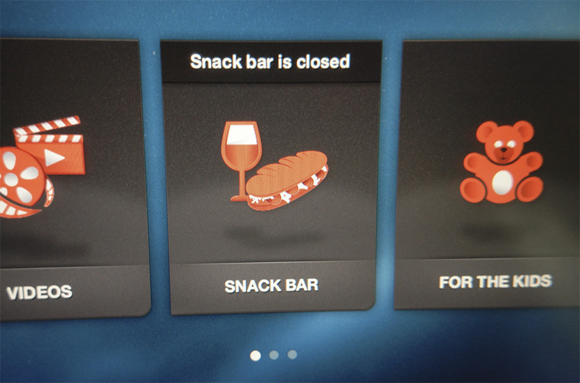 Still no luck with the on-screen snack ordering service.