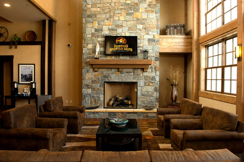 The decor at the Deadwood Mountain Grand reflects the hotel's past as a mining plant.