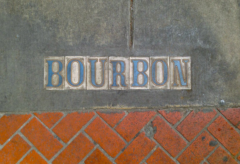 Bourbon Street may be named for the 18th century House of Bourbon, but it's more associated with the liquid form now.