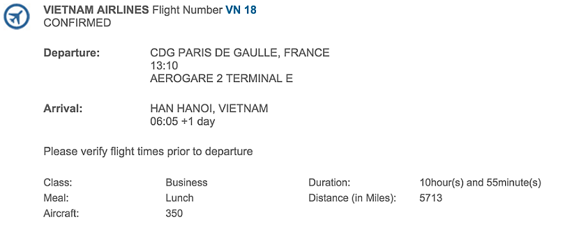 I was looking forward to my nearly 11-hour flight on board Vietnam Airlines' A350.