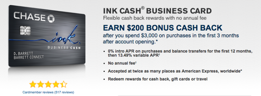 Earn 5% cash back at office supply stores with the Ink Cash Business Card.