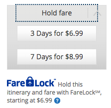 United's FareLock service gives you more than 24 hours to decide for a small fee.