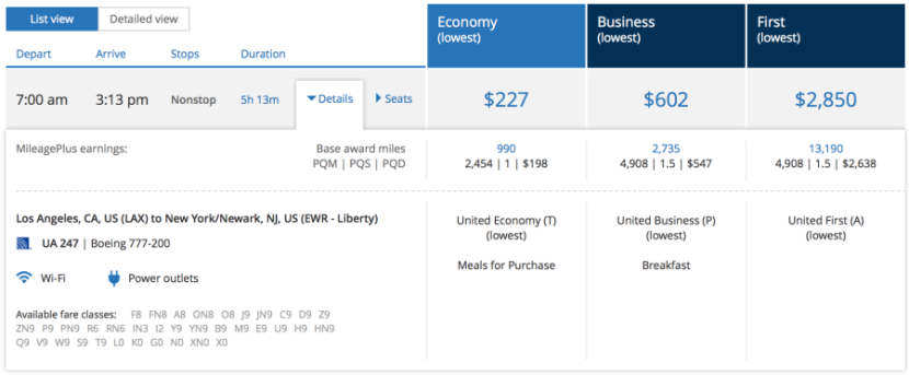 First class will cost you $2,850 each way.