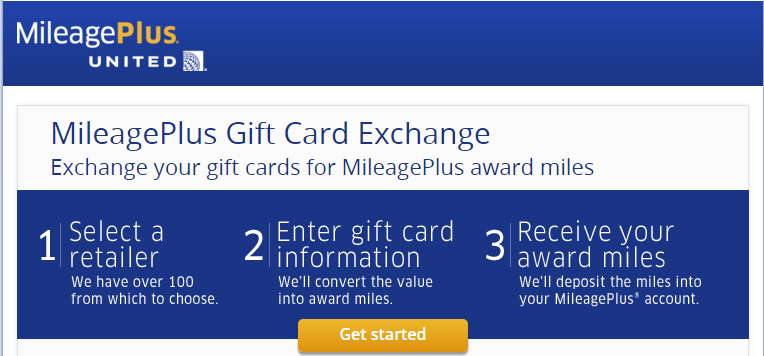 United Gift Card Exchange landing page